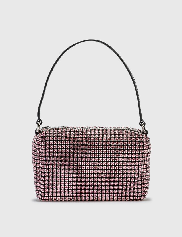 Alexander Wang Heiress Rhinestone Medium Pouch Prism Pink Women