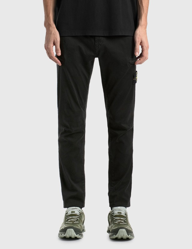 Stone Island Slim Cotton Cargo Pants Black Men