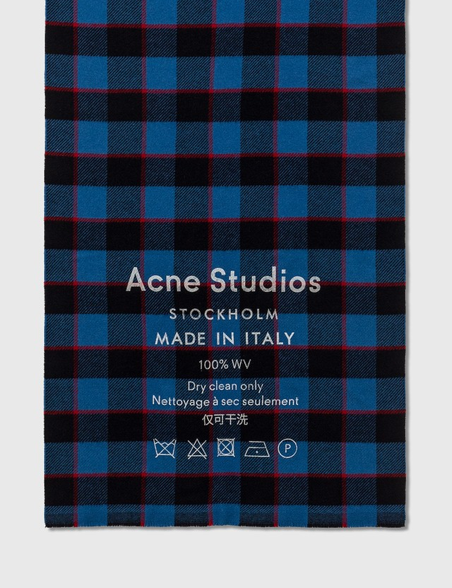 Acne Studios Checked logo scarf
