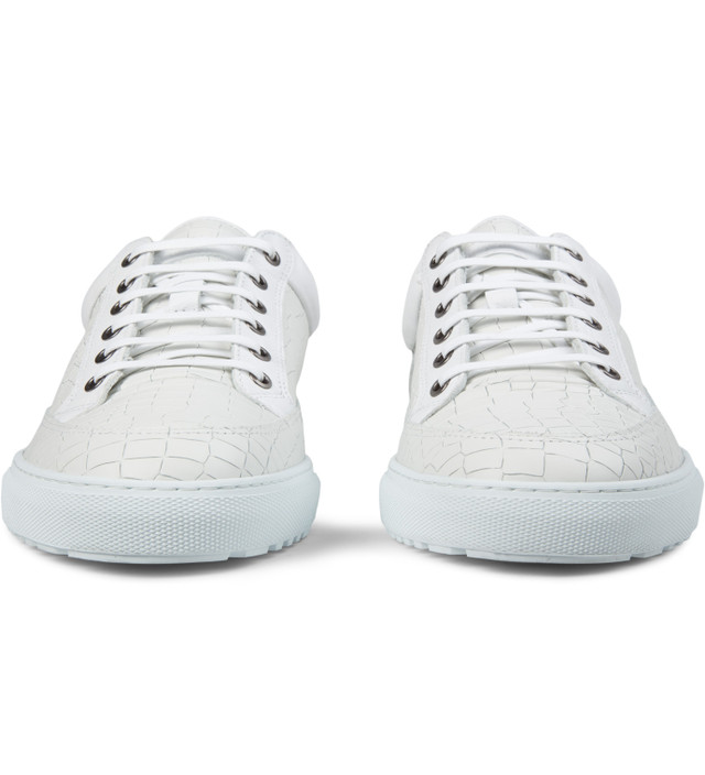 Etq - White Croc Embossed Low Top 2 Shoes  45cd435e6ae8