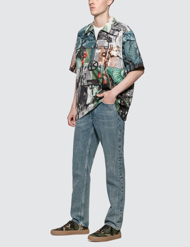 Burberry Straight Fit Distressed Denim Jeans