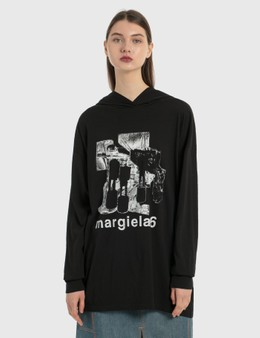 MM6 Maison Margiela Oversized Hoodie Dress