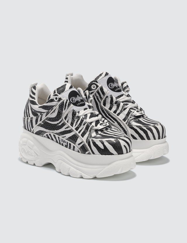 Buffalo London Buffalo Classic Zebra Low-top Platform Sneakers