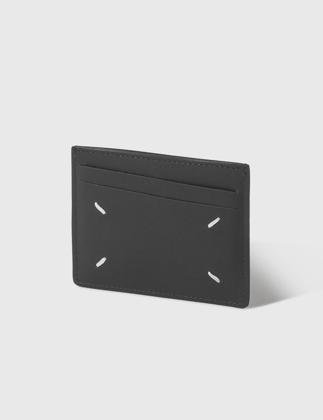 Maison Margiela Double Card Holder Black Unisex