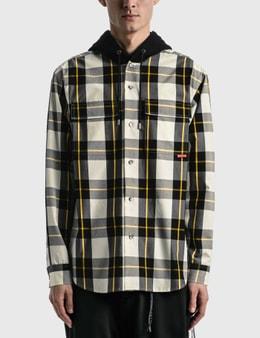 Mastermind Japan Block Plaid Hooded Shirt Jacket