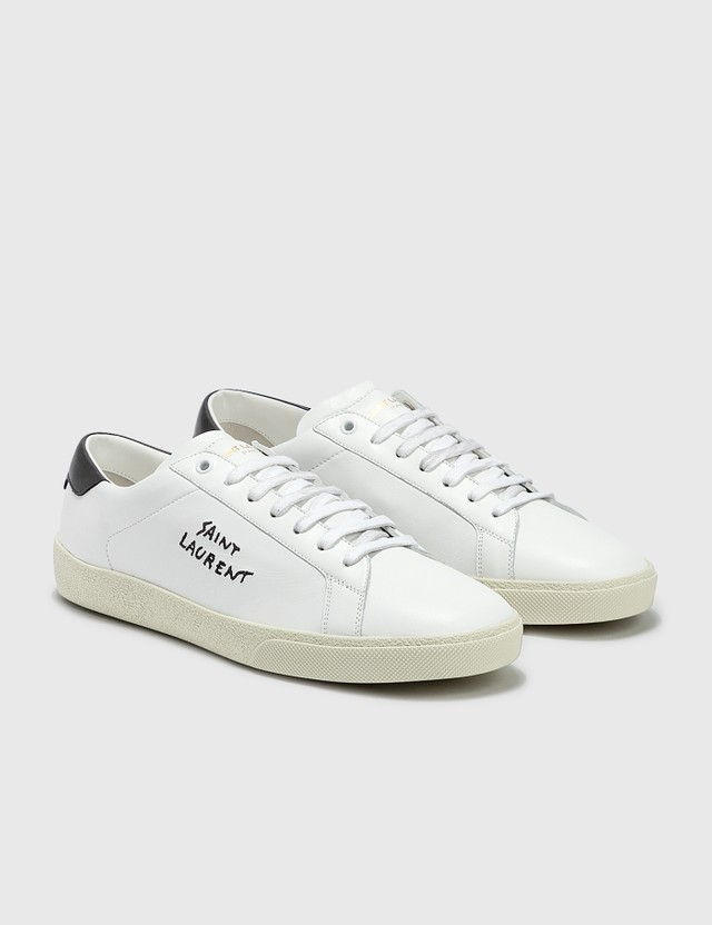 Saint Laurent Court Classic SL/06 Embroidered Leather Sneaker