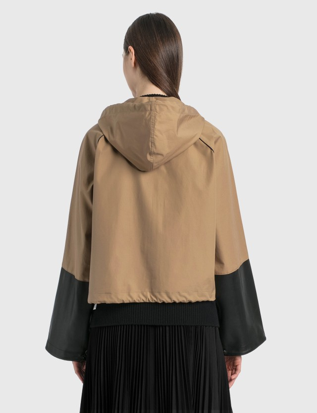 Loewe Hooded Jacket In Cotton And Nappa