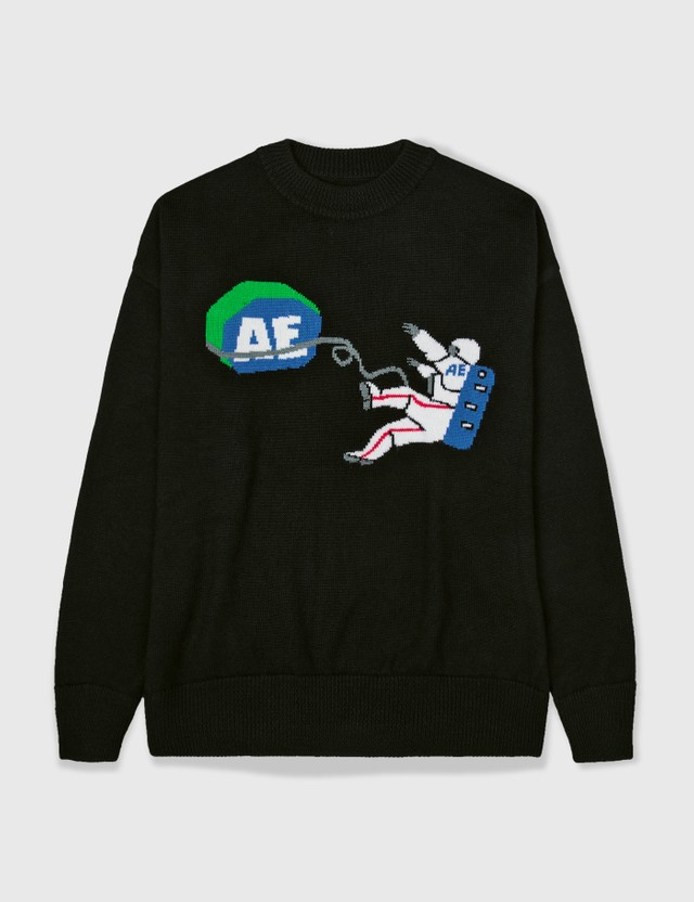 Ader Error Ader Error Spaceman Knitwear Black Archives