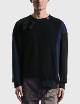 Maison Mihara Yasuhiro Sleeves Docking Pullover