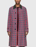 Burberry Contrast Collar Check Nylon Twill Car Coat 사진