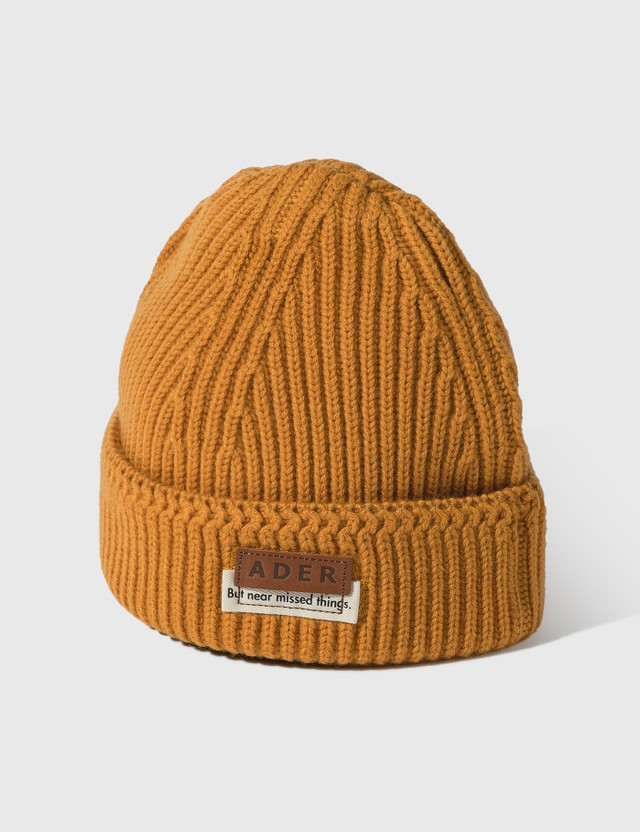 Ader Error Layered Label Beanie =e52 Women