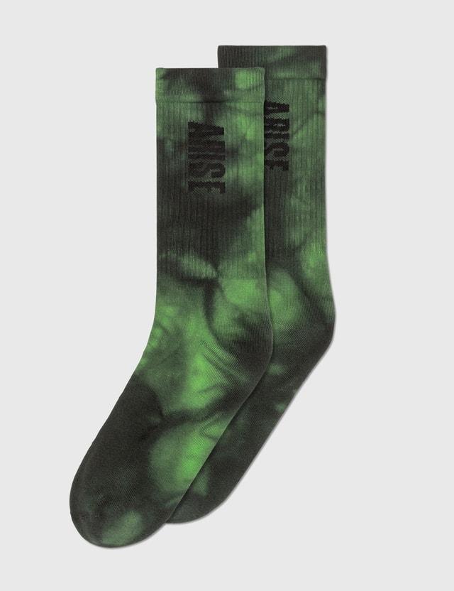Aries Tie-Dye Socks Grn Men