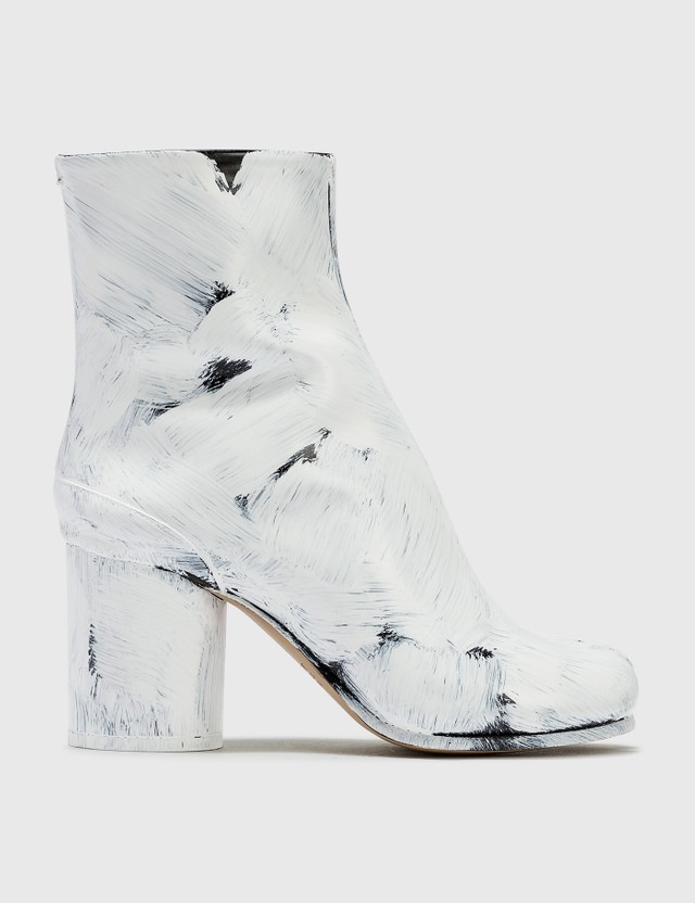 Maison Margiela Tabi Painted Calfskin Ankle Boots