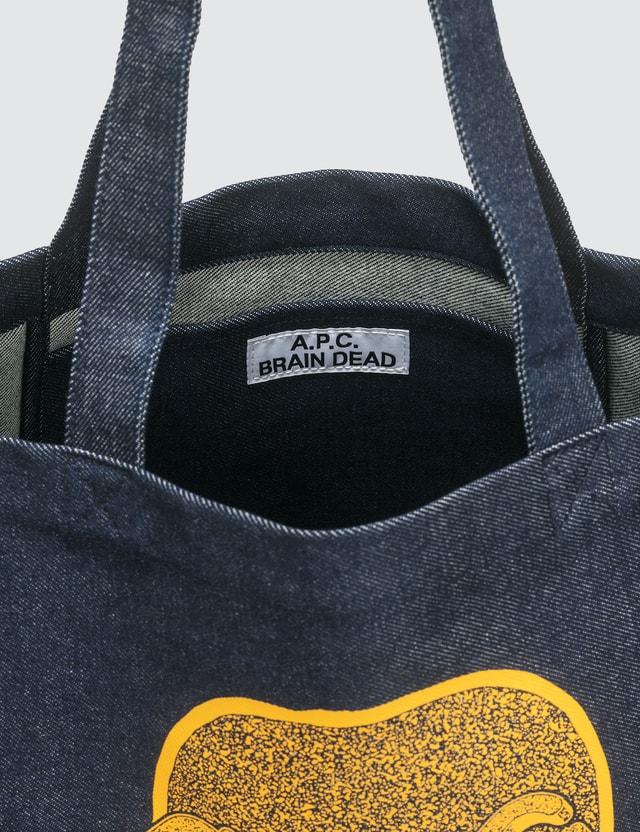 A.P.C. A.P.C. x Brain Dead Denim Tote Bag