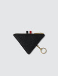 Thom Browne Triangular Zip Coin Pouch