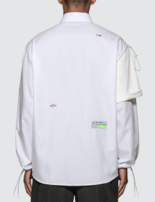 Ader Error Contrast Sleeve Oversized Cotton Shirt