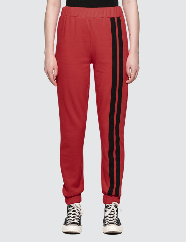 Danielle Guizio Cotton Sweatpants Red Women