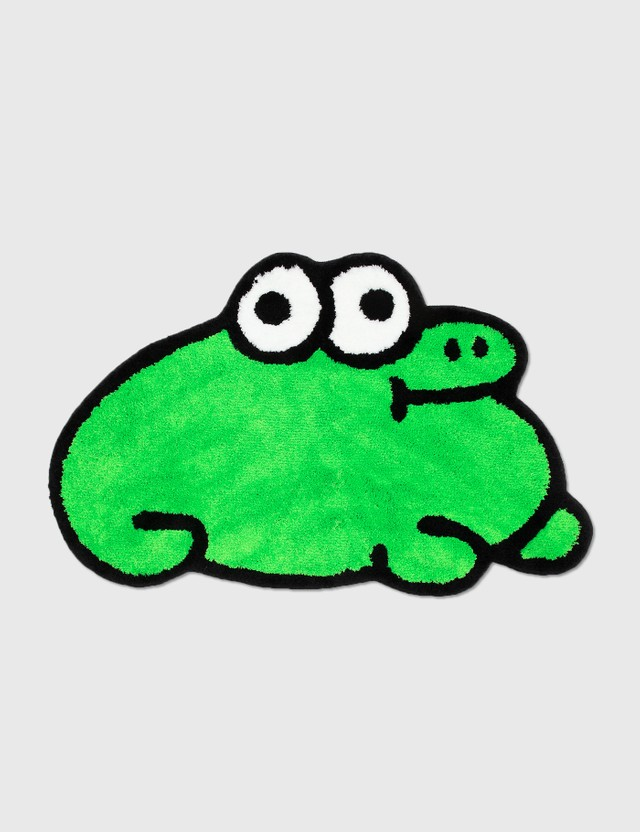 Fiber Jon Burgerman Froggy Rug Green Unisex