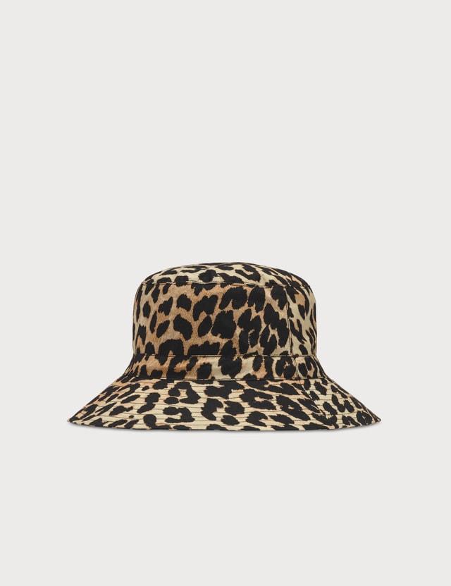 Ganni Leopard Bucket Hat