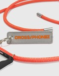 CROSS/PHONEZ Neon Orange Rope With Silver Details iPhone Case Neon Orange / Black / Transparent Women