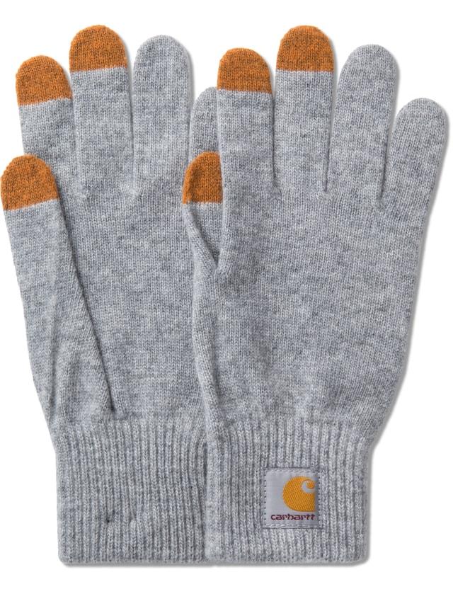 Carhartt Work In Progress Grey Touch Screen Gloves