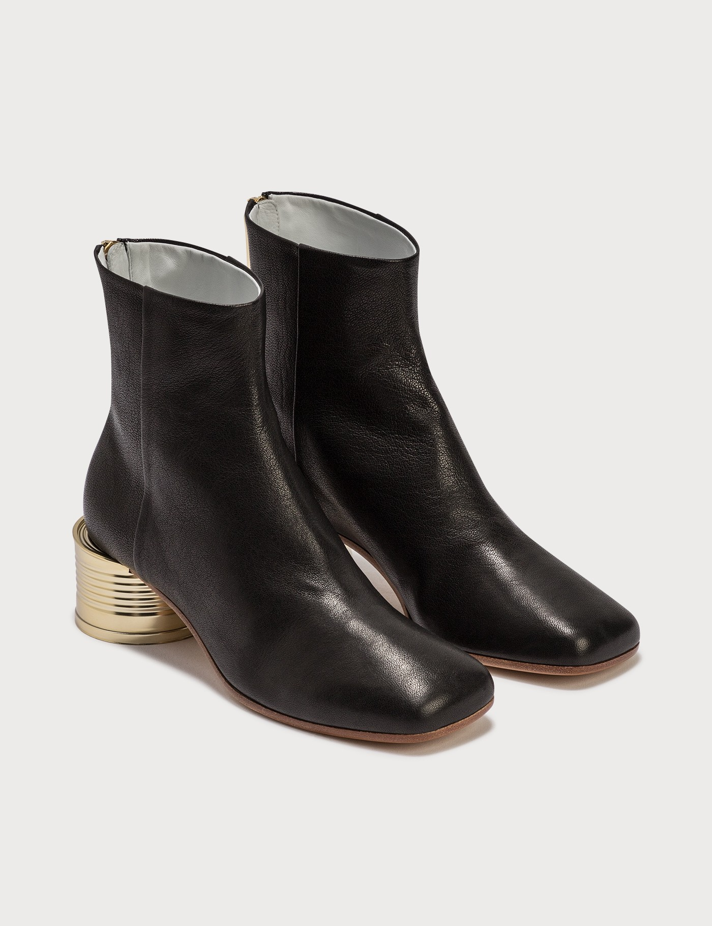 MM6 MAISON MARGIELA TIN CAN HEEL ANKLE BOOTS