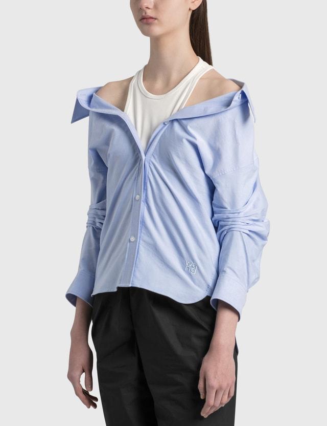 Alexander Wang.T Off-Shoulder Shirt With Inner Tank Oxford Women