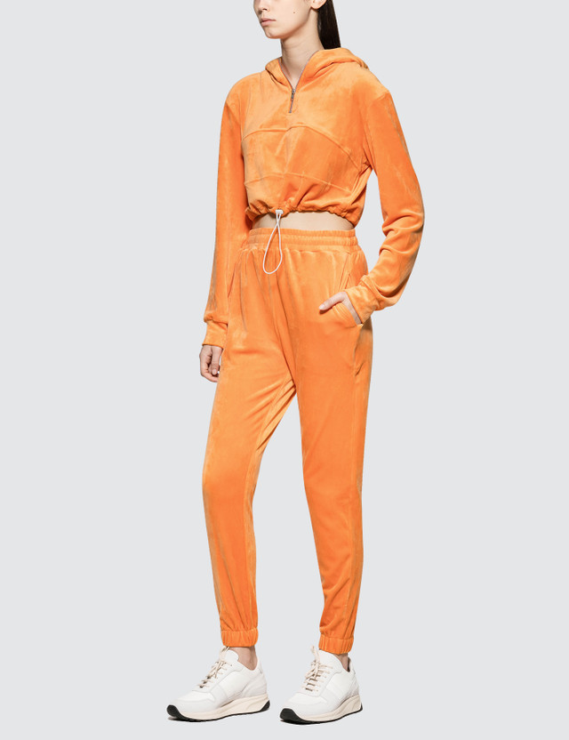 Danielle Guizio Guizio Pt2 Velour Tracksuit Orange Women