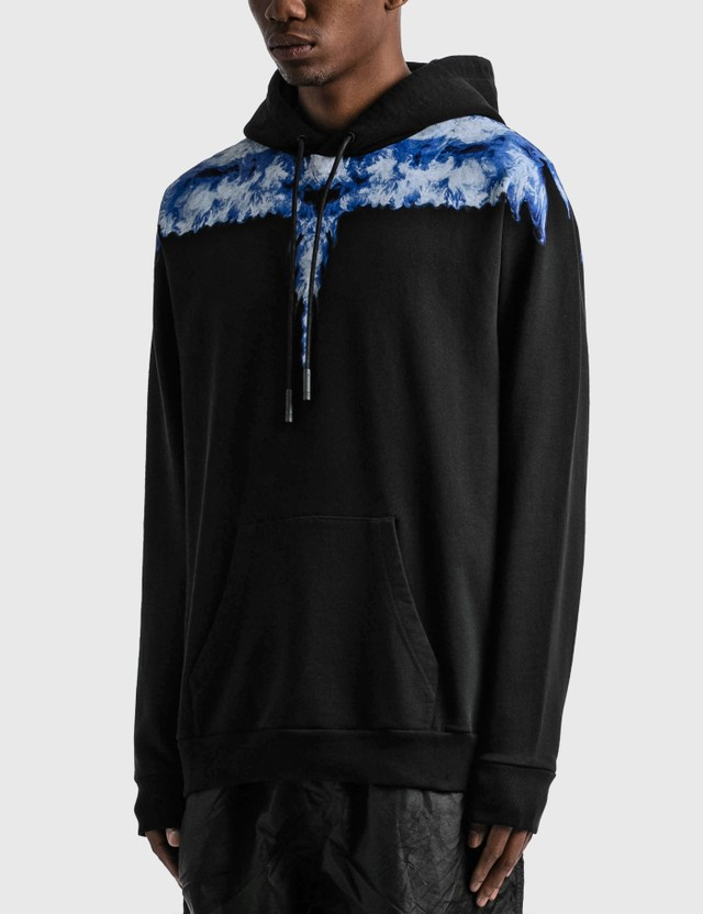 Marcelo Burlon Light Blue Wings Hoodie Black Dust Men
