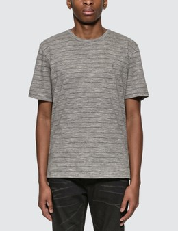 Saint Laurent Monogram T-Shirt With Lamé Stripes