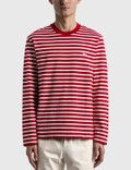 Maison Kitsune Tricolor Fox Patch Long Sleeve T-shirt Picture