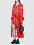 Kirin Haetae Viscose Pajama Dress Red Multicol Women