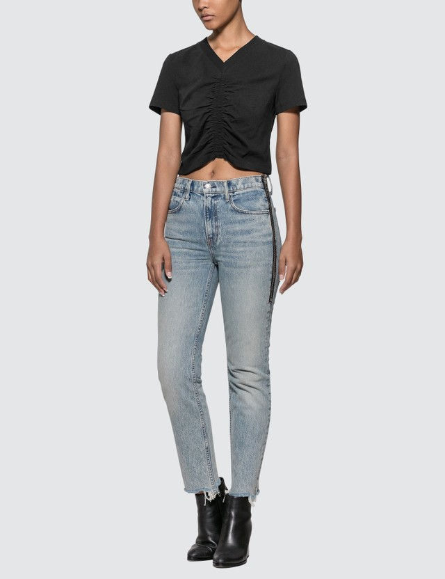 Alexander Wang.T Wash & Go Ruched Crop T-shirt