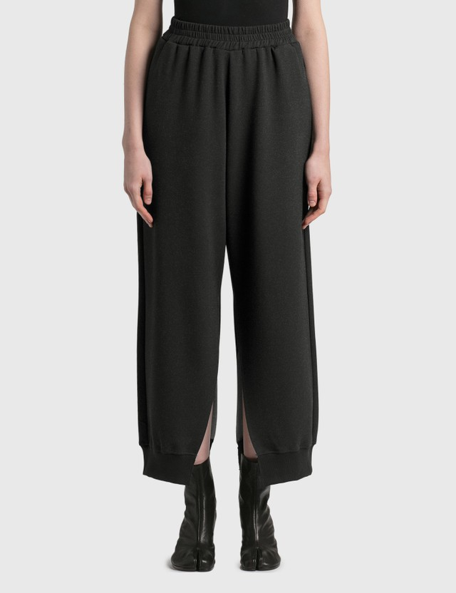 MM6 Maison Margiela Split Sweatpants Black Women