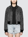 Alexander Wang.T Hooded Logo Bomber Jacket Picture