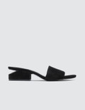 Alexander Wang Lou Suede Sandal with Rhodium Picture