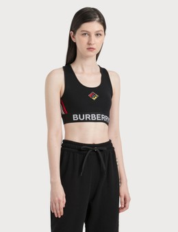 Burberry Logo Graphic Stretch Jersey Bra Top