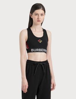 Burberry Logo Graphic Stretch Jersey Bra Top