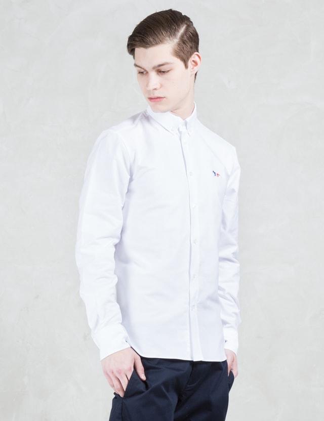 Maison Kitsune Tricolor Patch Classic Oxford Shirt
