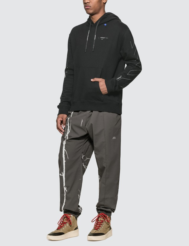 Off-White Diagonals Unfinished Slim Hoodie