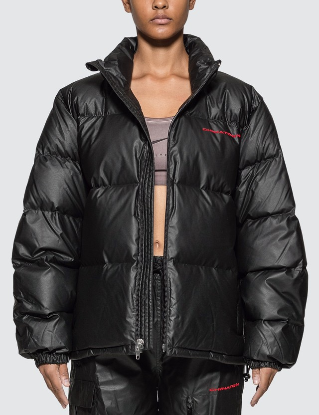 Alexander Wang Chynatown Pleather Nylon Puffer Jacket