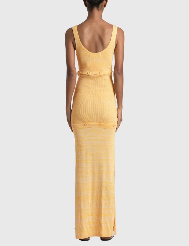 Christopher Esber Deconstruct Tank Dress Yellow Women
