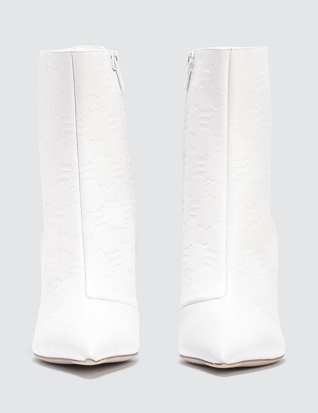 Misbhv Slicer Ankle Boots White Monogram