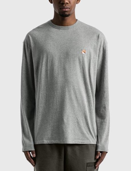 메종 키츠네 Maison Kitsune Fox Head Patch Long Sleeve T-shirt