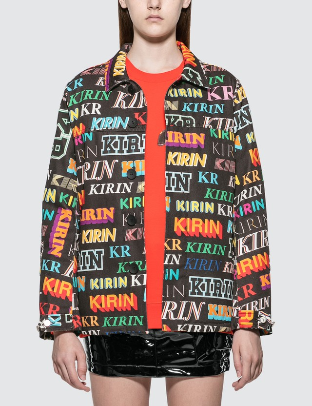 Kirin Kirin Typo Field Denim Jacket Black Mult Women