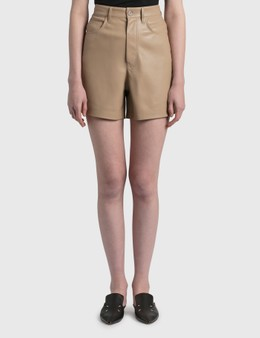 Nanushka Leana Vegan Leather Shorts