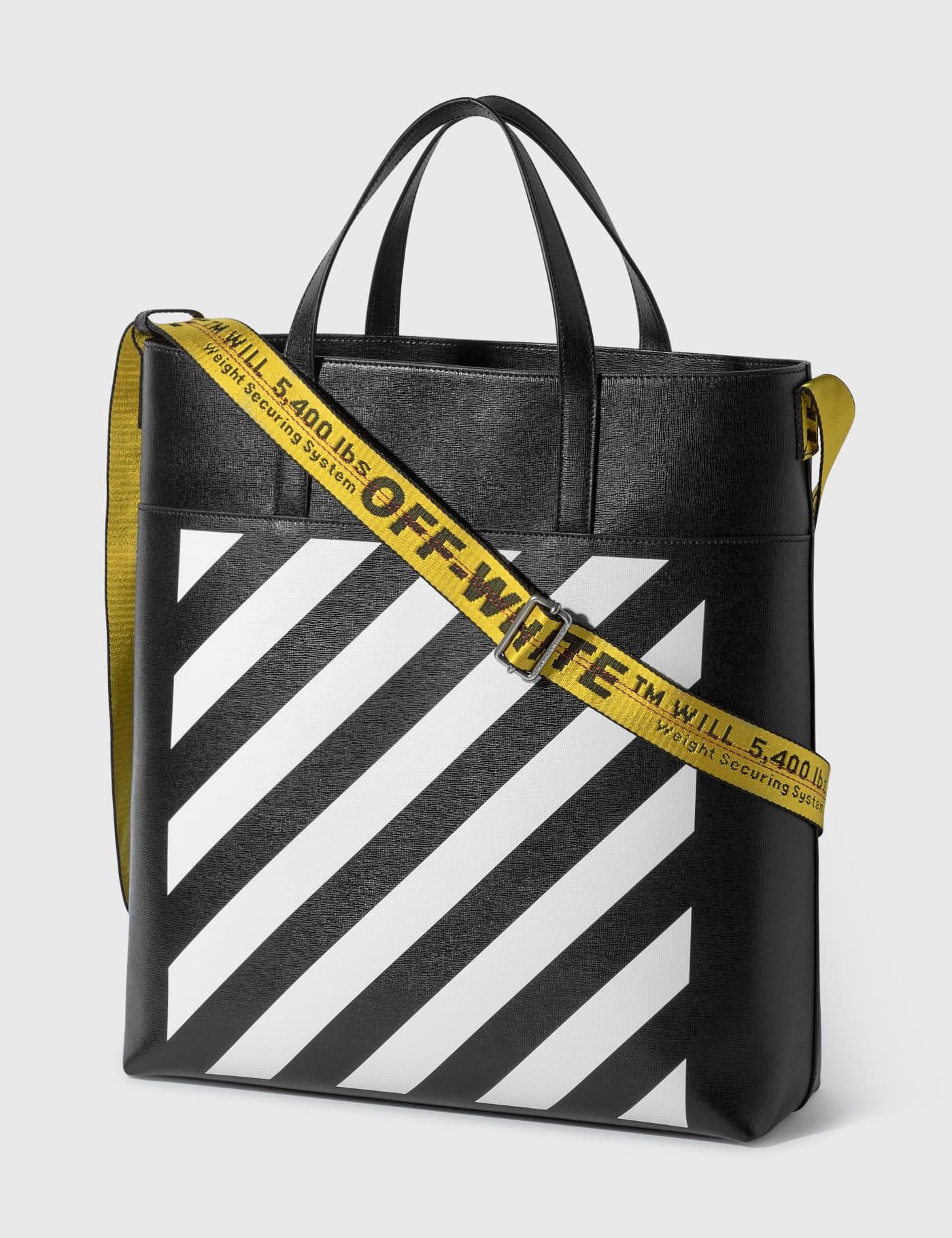 Diag Leather Tote Bag