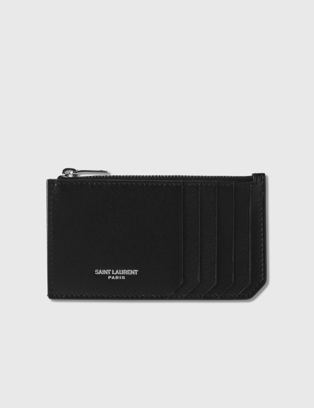 Saint Laurent Smooth Leather Card Case Nero Men