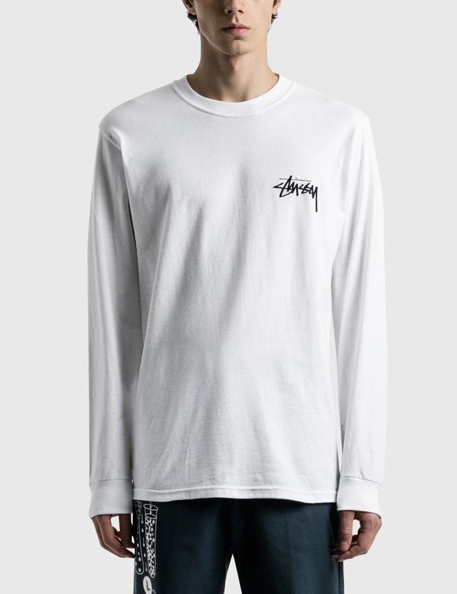 Stussy Ocular Long Sleeve T-Shirt White Men
