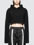 Danielle Guizio Oversized Hoodie Crop Sweatshirt Picutre